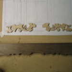 Gingko appliques roughed out