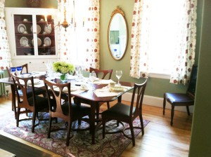 Dining Room furniture by William Doub at Brightholme Designer Showcase, Bar Harbor, ME. Bill is represented by The Gallery at Somes Sound, Somesville, ME.