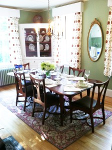 Dining Room Set by William Doub at Brightholme Sotheby Designer Showcase, Bar Harbor, ME.