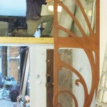 Here I am installing the upper and lower right sections of the gallery.