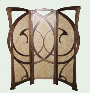 Autumn Wind - An Art Nouveau Folding Screen
